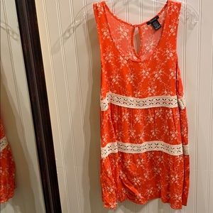 Size Small Orange Floral Timing Boutique Dress